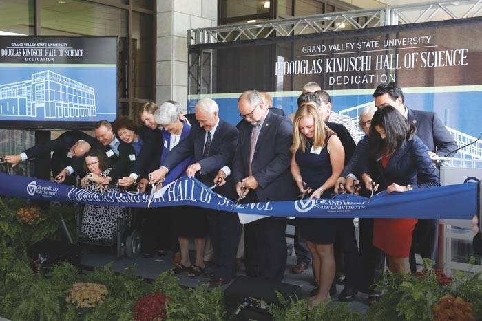 Ribbon cutting for the Kindschi Hall of Science